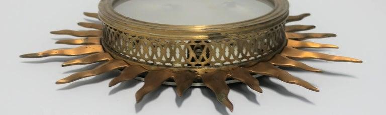 Brass Starburst Flush Mount Ceiling Lights For Sale 2