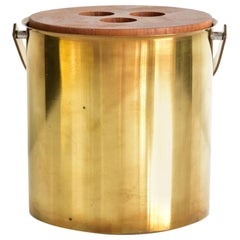 Brass Stelton Arne Jacobsen Ice Bucket Made in Denmark