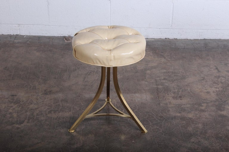 Brass Stool by John Stewart In Good Condition For Sale In Dallas, TX