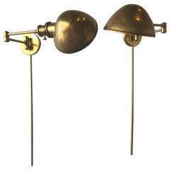 Brass Swing Arm Sconces