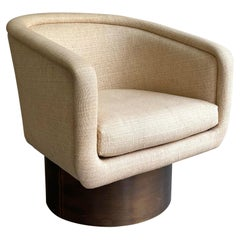 Brass Swivel Club Chair by Leon Rosen for Pace
