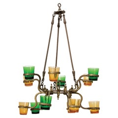 Early 20th Century Indian Brass Synagogue Lamp