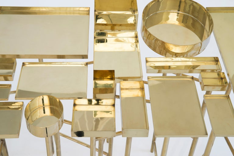 Mexican Brass Table 1A, the OCD Collection For Sale