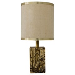 Brass Table Lamp Attributet to Luciano Frigerio by Frigerio Di Diseo, Italy