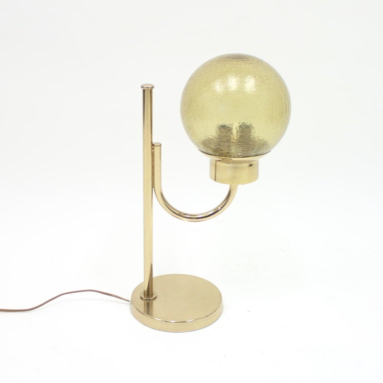 Swedish Brass Table Lamp by Bergboms, Model B-090, 1970s For Sale