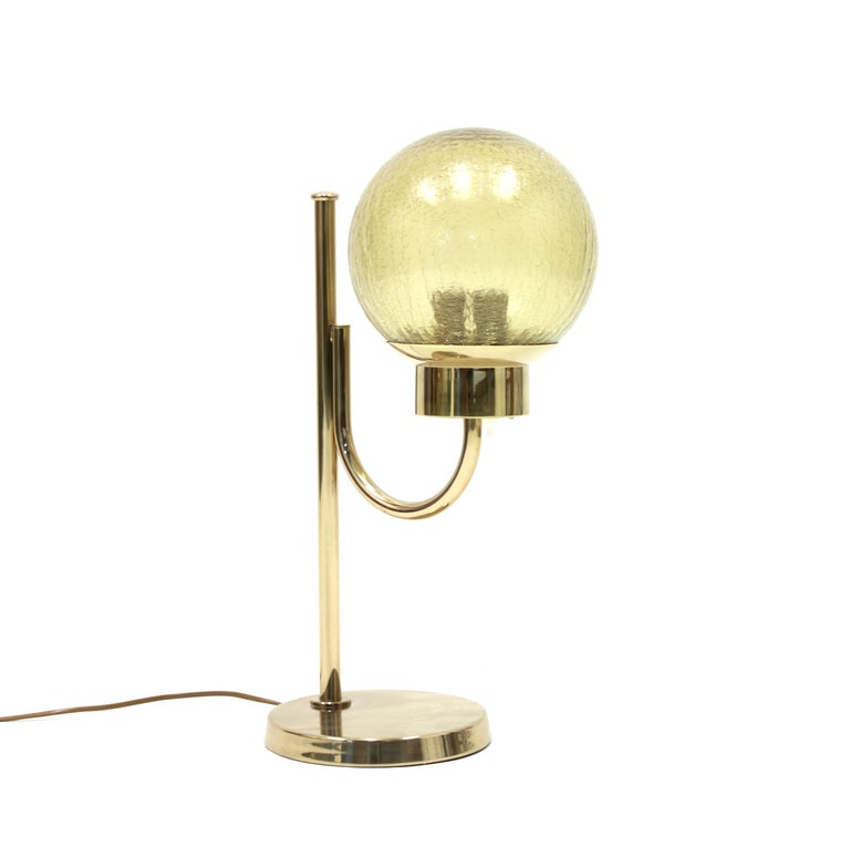 Brass Table Lamp by Bergboms, Model B-090, 1970s In Good Condition For Sale In Uppsala, SE