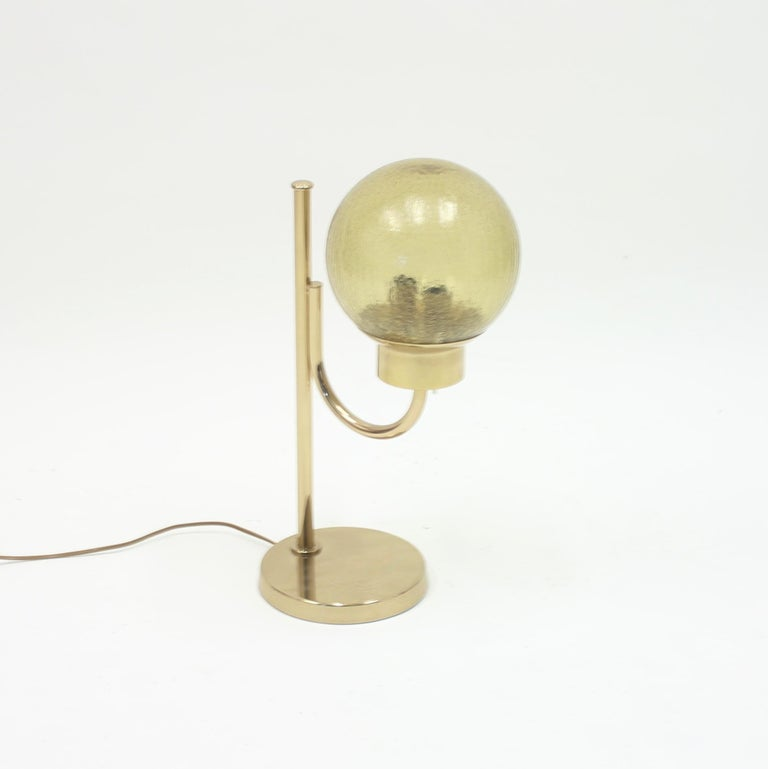 Late 20th Century Brass Table Lamp by Bergboms, Model B-090, 1970s For Sale