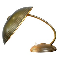 Brass Table Lamp by Helo, circa 1940s