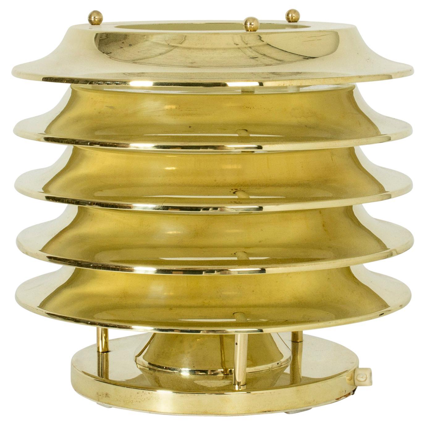 Brass Table Lamp by Kai Ruokonen for Orno, Finland, 1960s