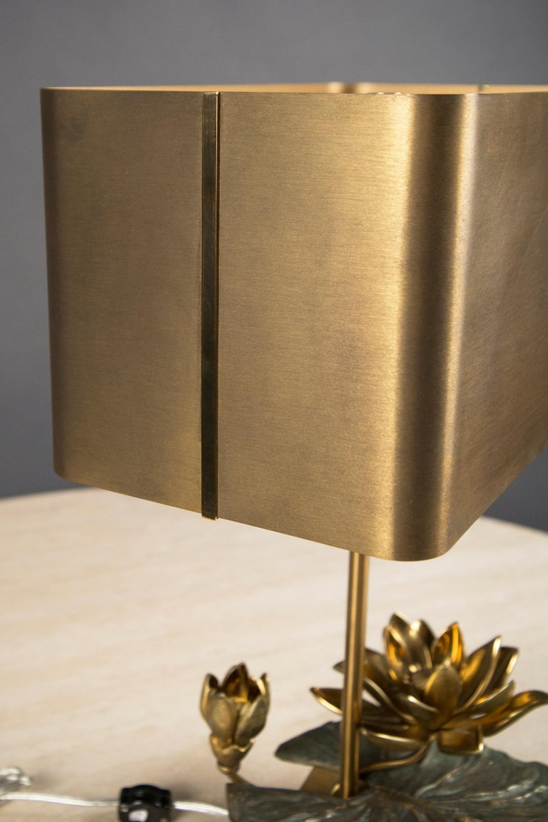 French Brass Table Lamp by Maison Charles, France, circa 1970 For Sale