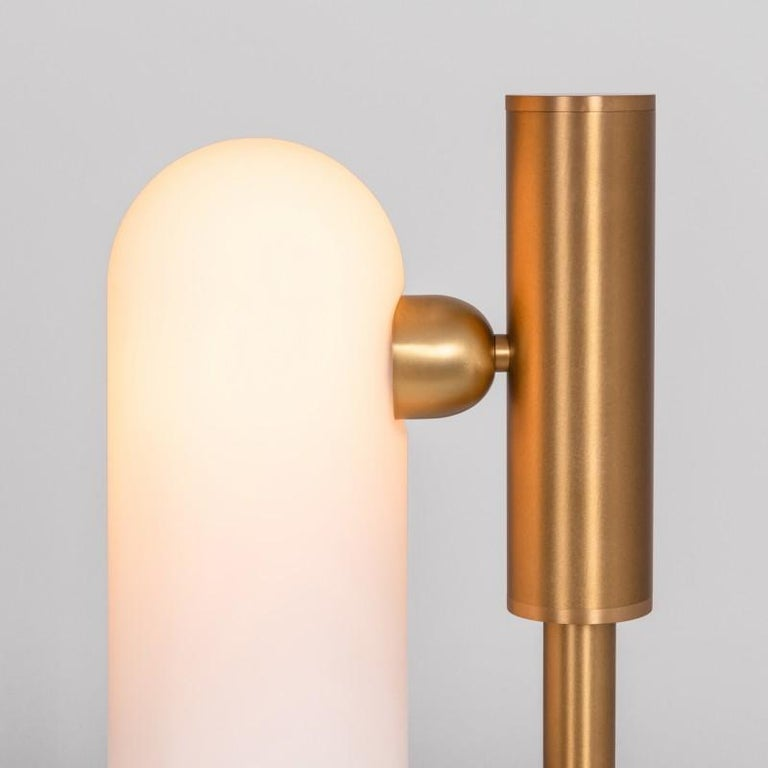 Modern Brass Table Lamp by Schwung For Sale