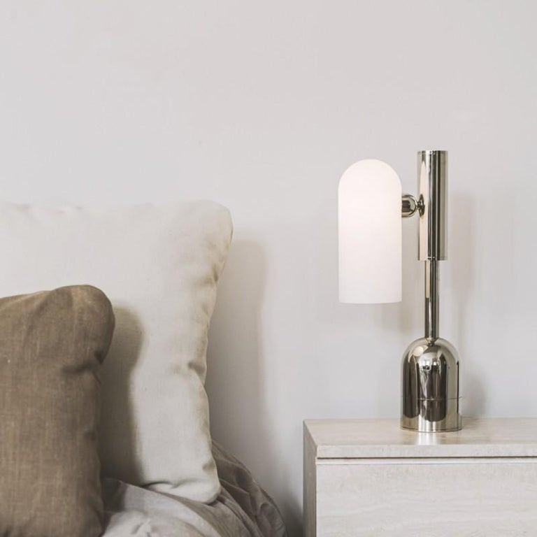 Brass Table Lamp by Schwung For Sale 2