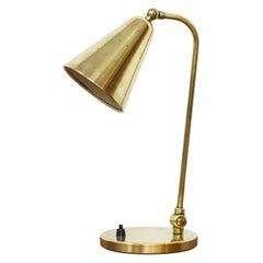 Brass Table Lamp by Svend Aageholm Sørensen, Holm Sørensen & Co, Denmark, 1950s