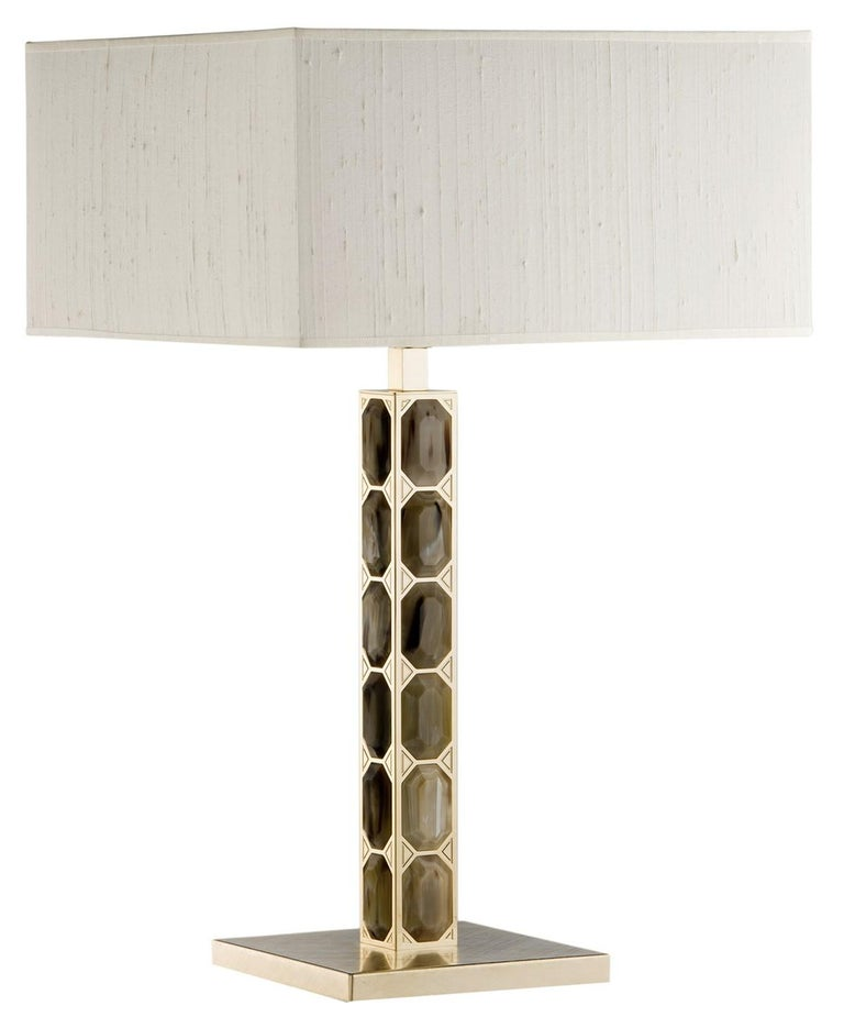 Brass Table Lamp In New Condition For Sale In Milan, IT