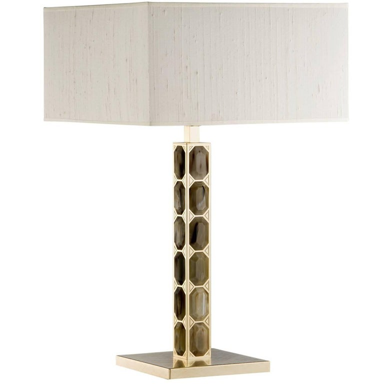 Brass Table Lamp For Sale