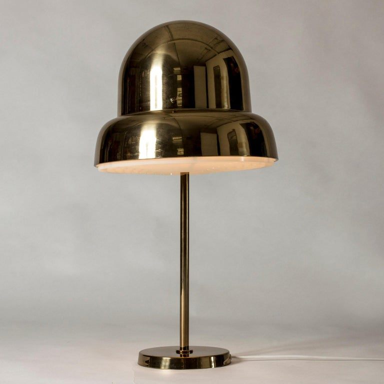 Scandinavian Modern Brass Table Lamp from Bergboms, Sweden, 1960s For Sale