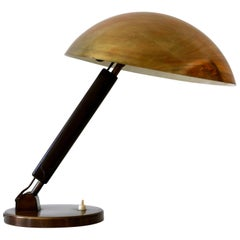 Brass Table Lamp or Desk Light by Karl Trabert for BAG Turgi, 1930s, Switzerland
