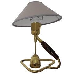 Tischlampe oder Wandlampe aus Messing, von Rupert Nikoll, Wien, aus den 1950ern
