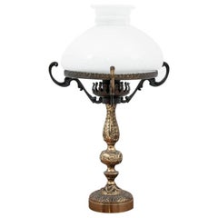 Brass Table Lamp, Poland, 1950s