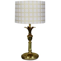 Brass Table Lamp with Stylized Pineapple