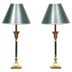 Brass Table Lamps 1970s France