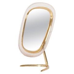 Brass Table Vanity Mirror by Vereinigte Werkstätten München, Germany, 1950s