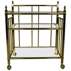 Brass Tea / Serving Cart or Bar Cart