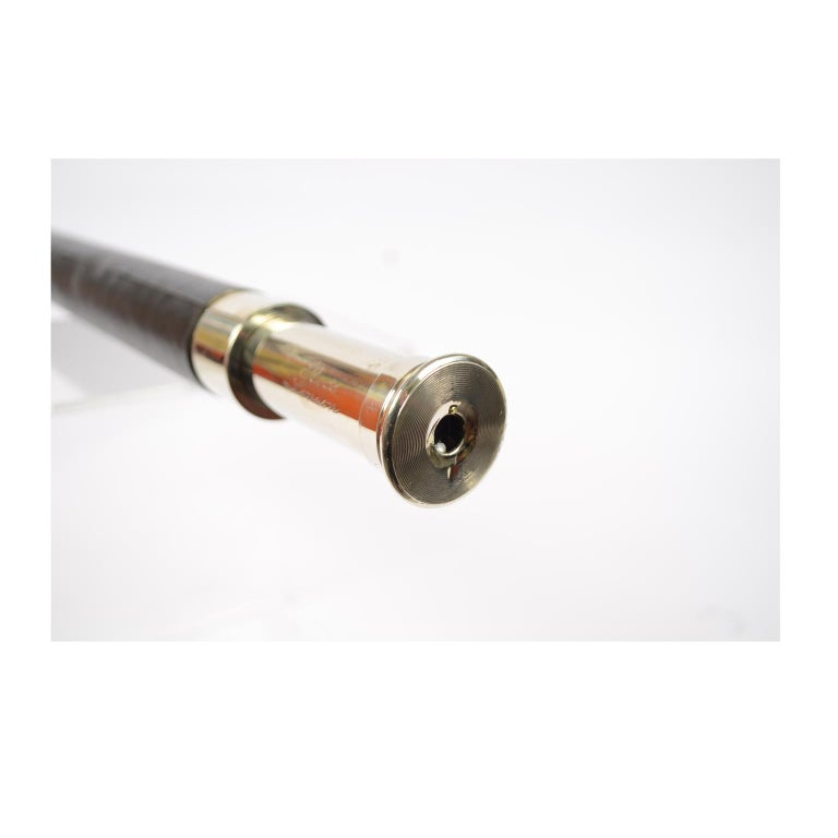 Brass Telescope with Leather-Covered Handle For Sale 7