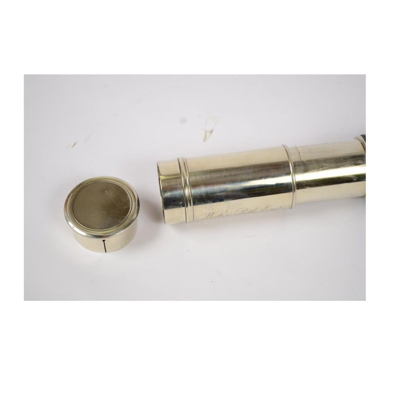 Brass Telescope with Leather-Covered Handle For Sale 9