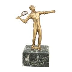 Brass Tennis Figure