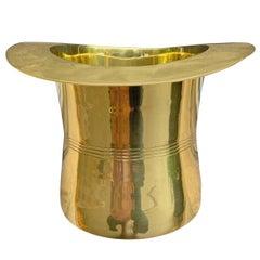 Brass Top Hat Champagne Bucket