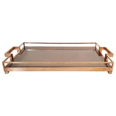 Brass Tray by Romeo Rega, Italy