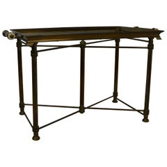 Brass Tray Top Coffee Table