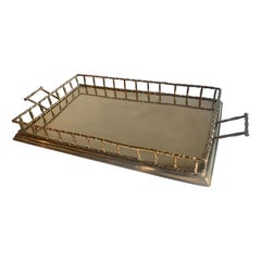 Brass Tray with Bamboo Gallery
