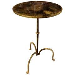 Brass Tripod Leg Side Table, India, Contemporary