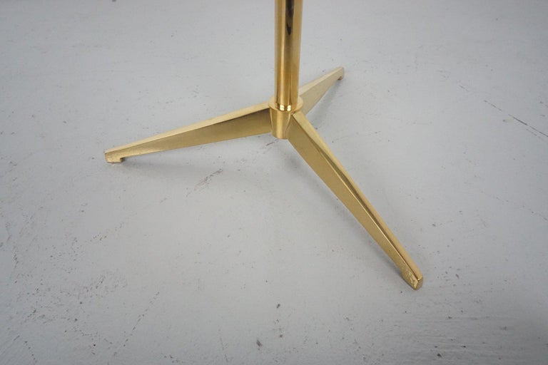 Brass Tripod Side Table In Excellent Condition For Sale In Los Angeles, CA