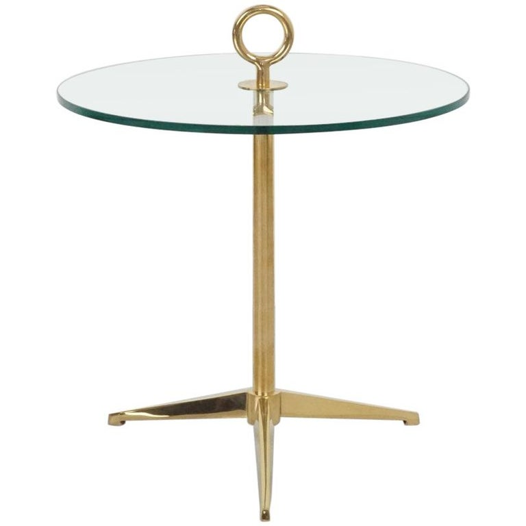 Brass Tripod Side Table For Sale