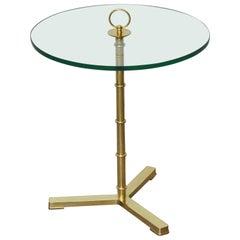 Brass Tripod Snack Table