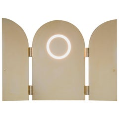 Brass Triptychs Enlighted Mirror, Jesse Visser