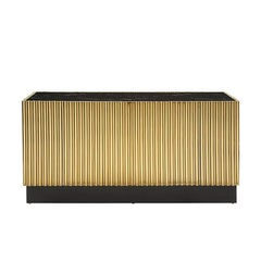 Brass Tubes II Sideboard in Gold Finish with Black Marble Top