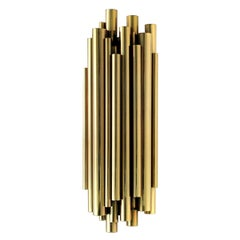 Brass Tubes Wall Lamp with Gold-Plated Solid Brass