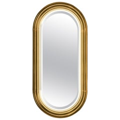 Brass Tubular with LED Wall Mirror