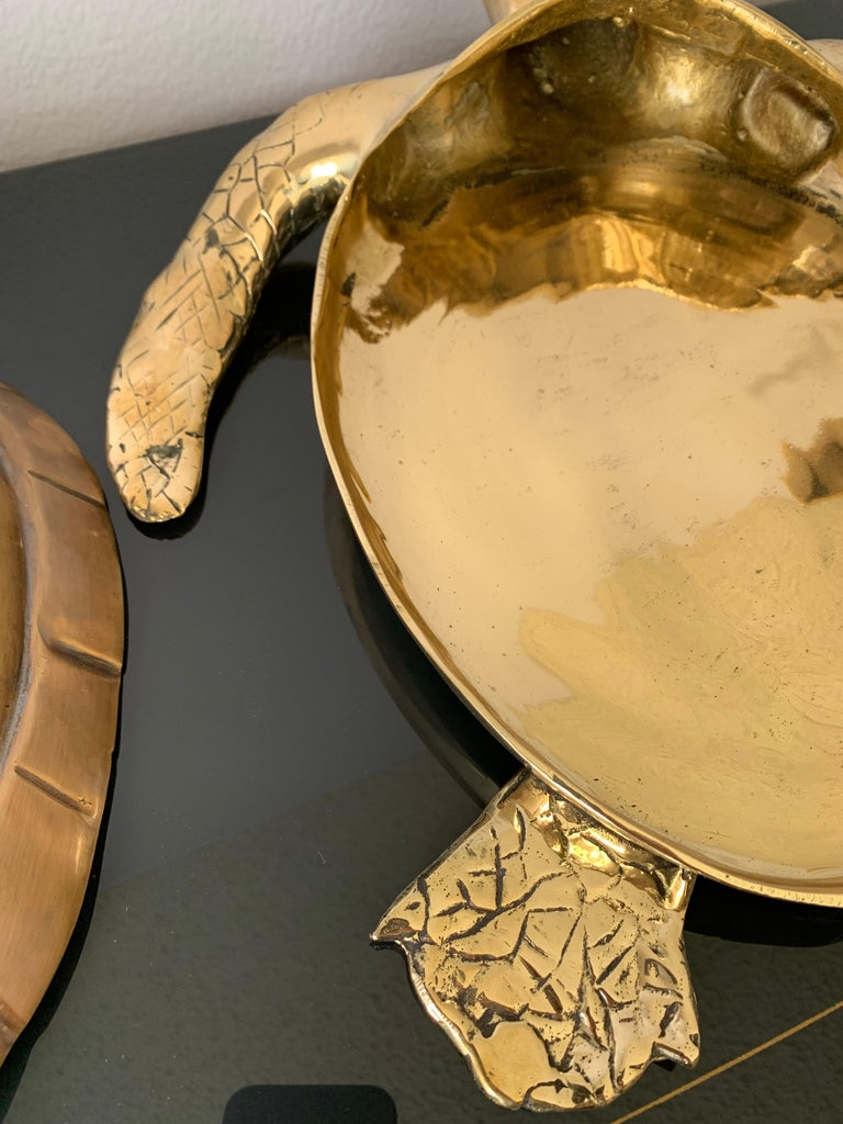 Brass Turtle Sculpture Jewelry Box For Sale 4