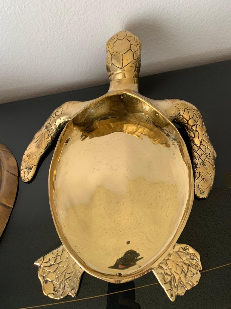 Brass Turtle Sculpture Jewelry Box For Sale 2