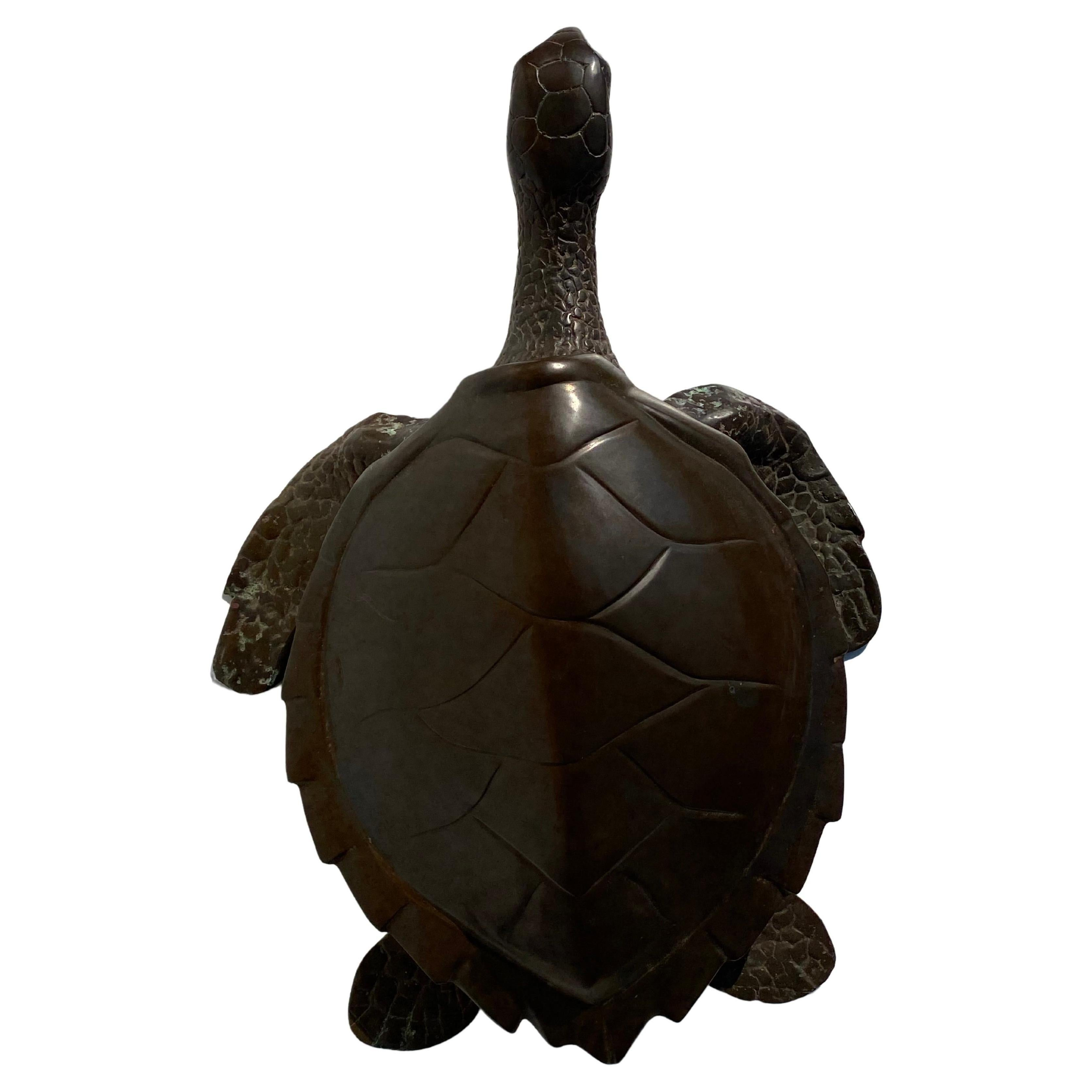 Brass Turtle Sculpture / Storage Box