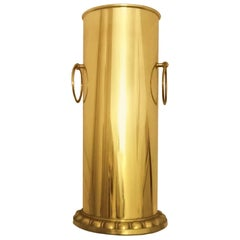 Umbrella Stand, Brass Art Deco  Fron  Italy