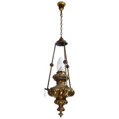 Brass Urn Pendant with Cupids