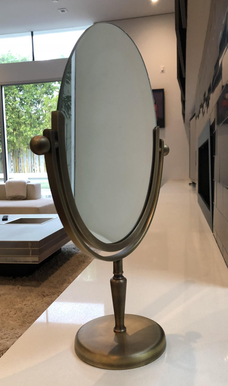 Mid-20th Century Brass Vanity Mirror by Charles Hollis Jones For Sale