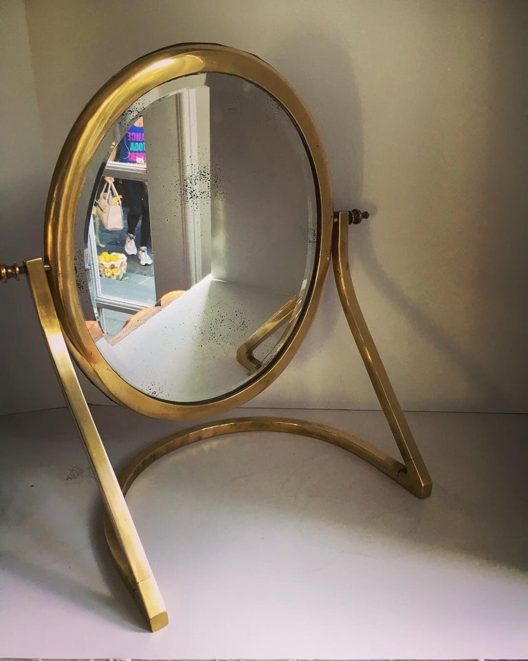 20th Century Brass Vanity Mirror For Sale
