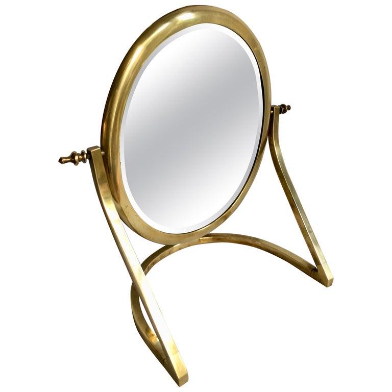 Brass Vanity Mirror For Sale